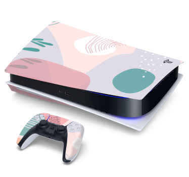 Change the appearance of you game console with our original decorative pastel painted PS5 sticker. It is wrinkle proof self adhesive and durable.