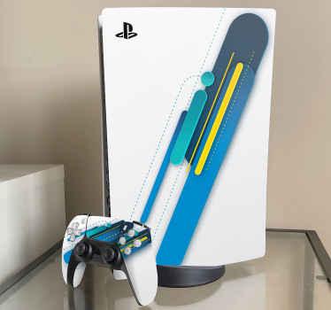 Een thematisch ontworpen playstation-sticker met witte achtergrond om een playstation-apparaat te verfraaien. Bestel dit geweldige design vandaag nog!