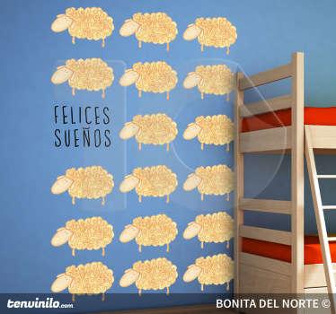 Ilustración especial realizada por Bonita del Norte. Un adhesivo para ayudar a tus hijos a dormir.