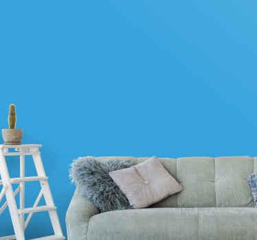 Vill du måla din vägg i blå färg och vill inte gå igenom den stressen? Vi har improviserat vanligt blått vinylväggsark för dig.