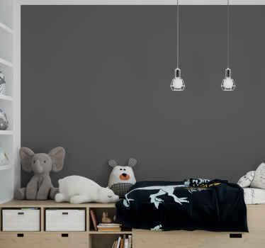 Djupgrå vinylfärg i vanlig färg för att anpassa din vägg med ett realistiskt fast färgutseende. Detta är enkelt att applicera och avtagbart.