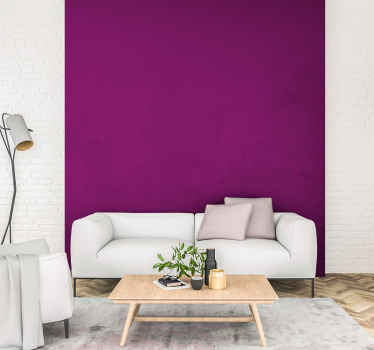 Change your living room, bedroom or any other space in the home or office with our original purple plain vinyl wall sheet that imitates a painted wall