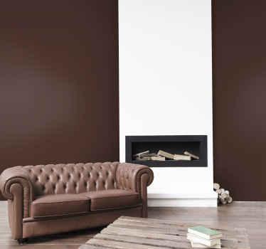 Brun, dekorativ vinyl dekal för att anpassa din väggyta med ett brunt färgmålningsutseende. Gjord av kvalitetsmaterial.