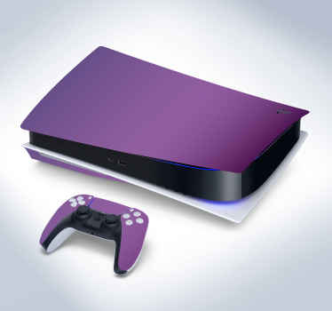 Beautify your PlayStation device console and controller in this solid purple textured PS5 decal.  It is self adhesive and durable.