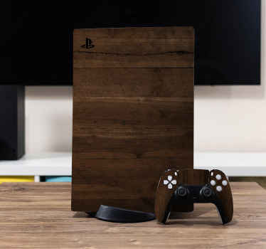 Customize the look of your PlayStation console and controller in our lovely Kona wood textured PS 5 decal. Easy and our decals are removable anytime.