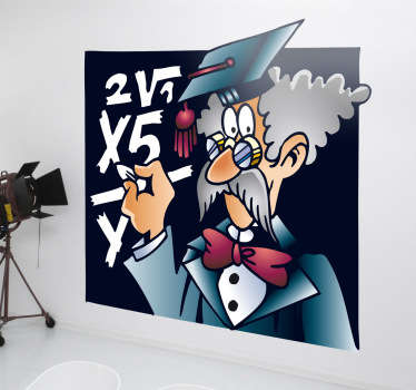 Vinil decorativo professor matemática