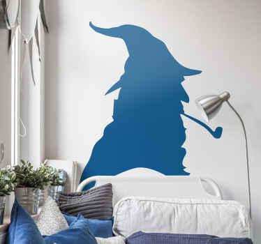 Gandalf hoofd film vinyl zelfklevende sticker: een zeer decoratief silhouet van lord of the ring film persoonlijkheid illustratie sticker. Bestel nu!