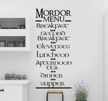 If you are a great fan of lord of the ring then you might love to have this lord of the ring movie quote extract decal on your space.