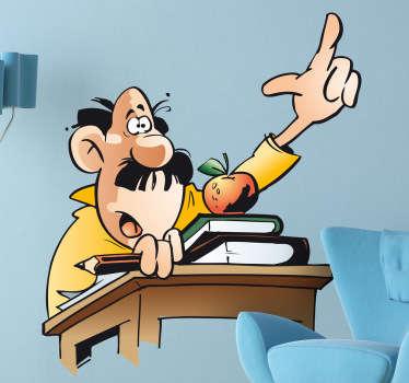 Wandtattoo Cartoon Lehrer