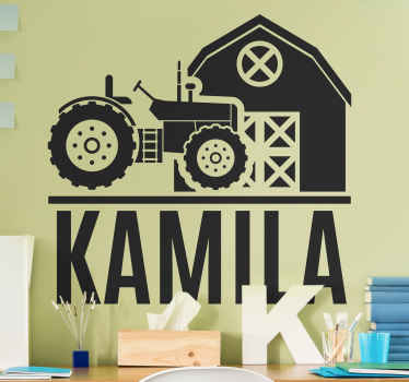 This very nice looking farm tractor sticker product will last a very long time in your home! Buy this original design now!