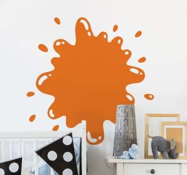 Adhesivo decorativo gota de pintura