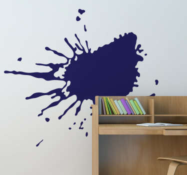 A fascinating wall sticker illustrating a random splash of paint that will give your room a creative look!
