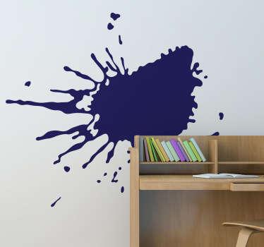 Et fascinerende vægklistermærke, der illustrerer en tilfældig stænk maling, der giver dit værelse et kreativt look!