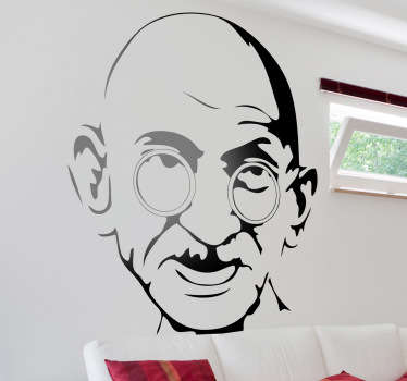 Sticker mural portrait Gandhi