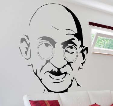 Adesivo murale ritratto Gandhi