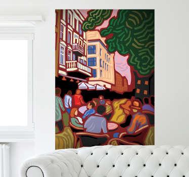 Vinilo decorativo cuadro impresionista