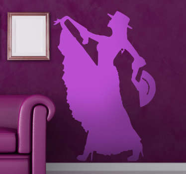 An spectacular flamenco wall sticker illustrating a dancer! Brilliant monochrome decal for those that love Flamenco.