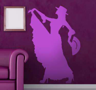 Flamencotänzerin Aufkleber