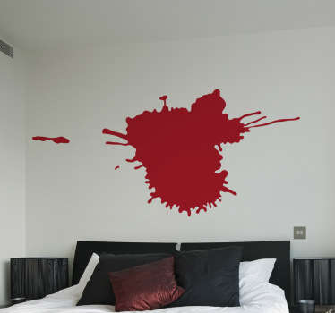 An original sticker illustrating a splash of paint which is perfect to decorate your bedroom or art studio and obtain a unique touch.