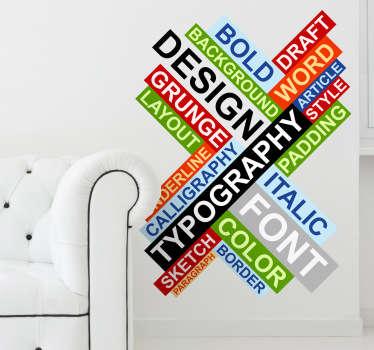 Design Text Aufkleber