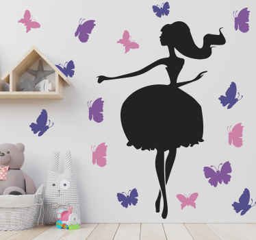 What could be a better gift to give to yourself or someone you know than this beautiful birdcage woman wallsticker design? Order it now!