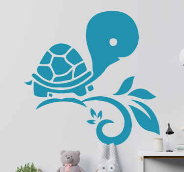 This awesome floral turtle wallsticker product will surely bring your room so much more light! Home delivery for this perfect design!
