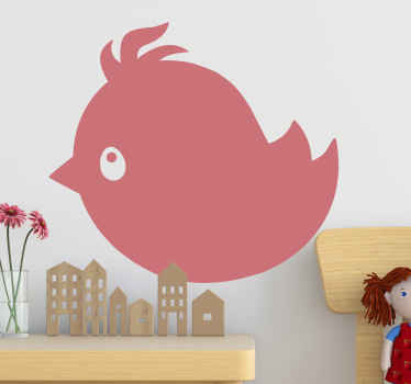 This decorative awesome fat bird wallsticker product has a very unique and cool design that is sure to give your house more energy! Order now!