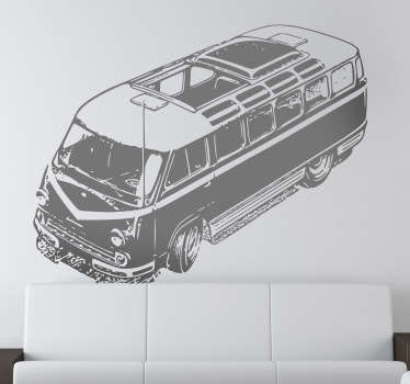 Vinilo decorativo furgoneta clásica
