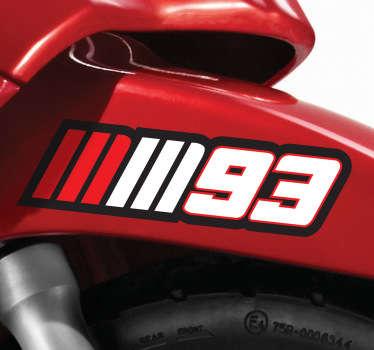 Numeri adesivi moto Marc Marquez