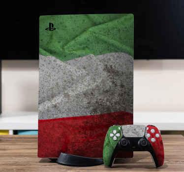 Un adhesif du drapeau italien ps5 pour décorer votre console de jeu et votre manette avec une apparence exceptionnelle représentant l'italie.