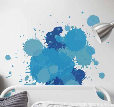 A splash of paint to give your walls an artistic and creative touch. Fantastic original decal to surprise your guests and family.