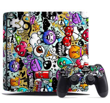 Décorez votre console de jeu avec notre décalcomanie playstation décorative originale avec un art design graffiti. Facile à appliquer et durable.