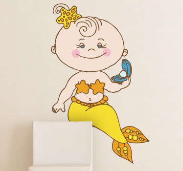 Baby Mermaid Kids Sticker
