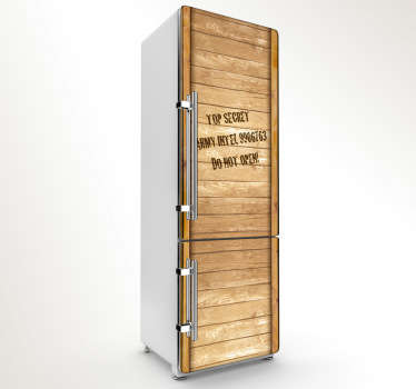 Sticker koelkast stijgerhout