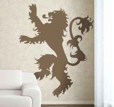Adhesivo con el famoso león rampante característico de la esta casa de Juego de Tronos.