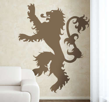 Naklejka na ścianę ród Lannister