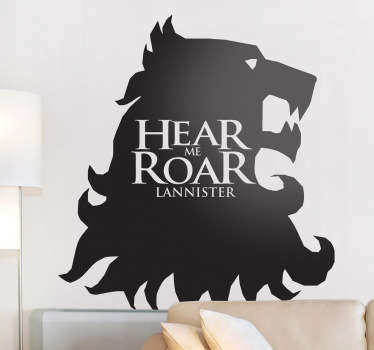 Sticker decorativo hear me roar