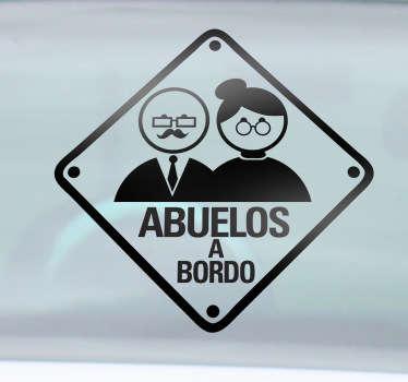 Adhesivo con el que podrás advertir al resto de conductores que en tu vehículo viajan tus progenitores más ancianos.
