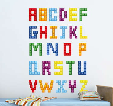 Kinder Wandtattoo Lego-Alphabet