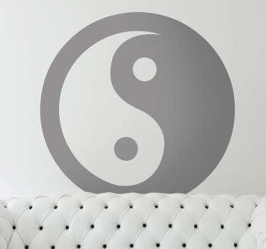Yin yang vägg klistermärke