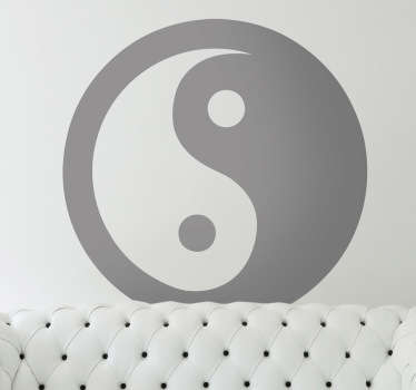 Yin yang væg klistermærke