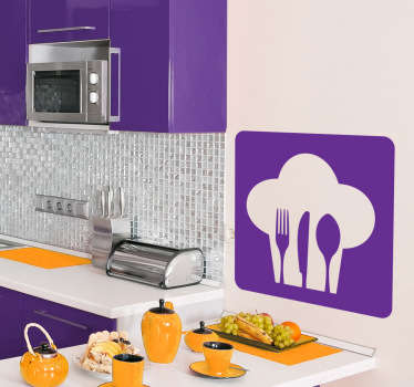 Kitchen wall Stickers - Chef themed design. Great for decorating your kitchen walls, cupboards & appliances.