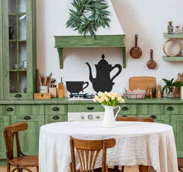 Vintage Teapot Wall Sticker