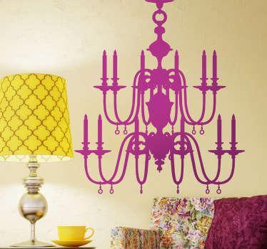 Sticker decorativo lampadario vintage 3