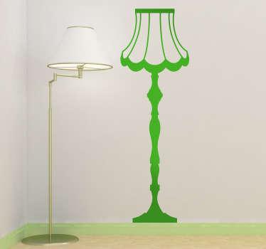 Naklejka dekoracyjna lampa stojąca