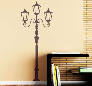 Retro lampe vegg klistremerke