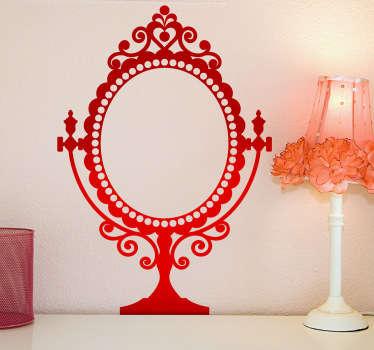 Sticker spiegel muur