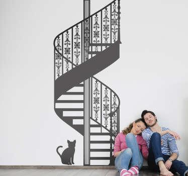 Autocolante decorativo escadaria em caracol