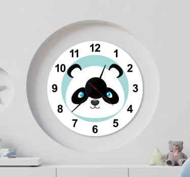 Panda horloge wild dier zelfklevende sticker - dit kan de slaapkamer wandklok van uw kind zijn, het is mooi en schattig. Bestel hem nu!