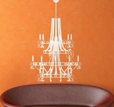 Sticker decorativo candelabro elegance